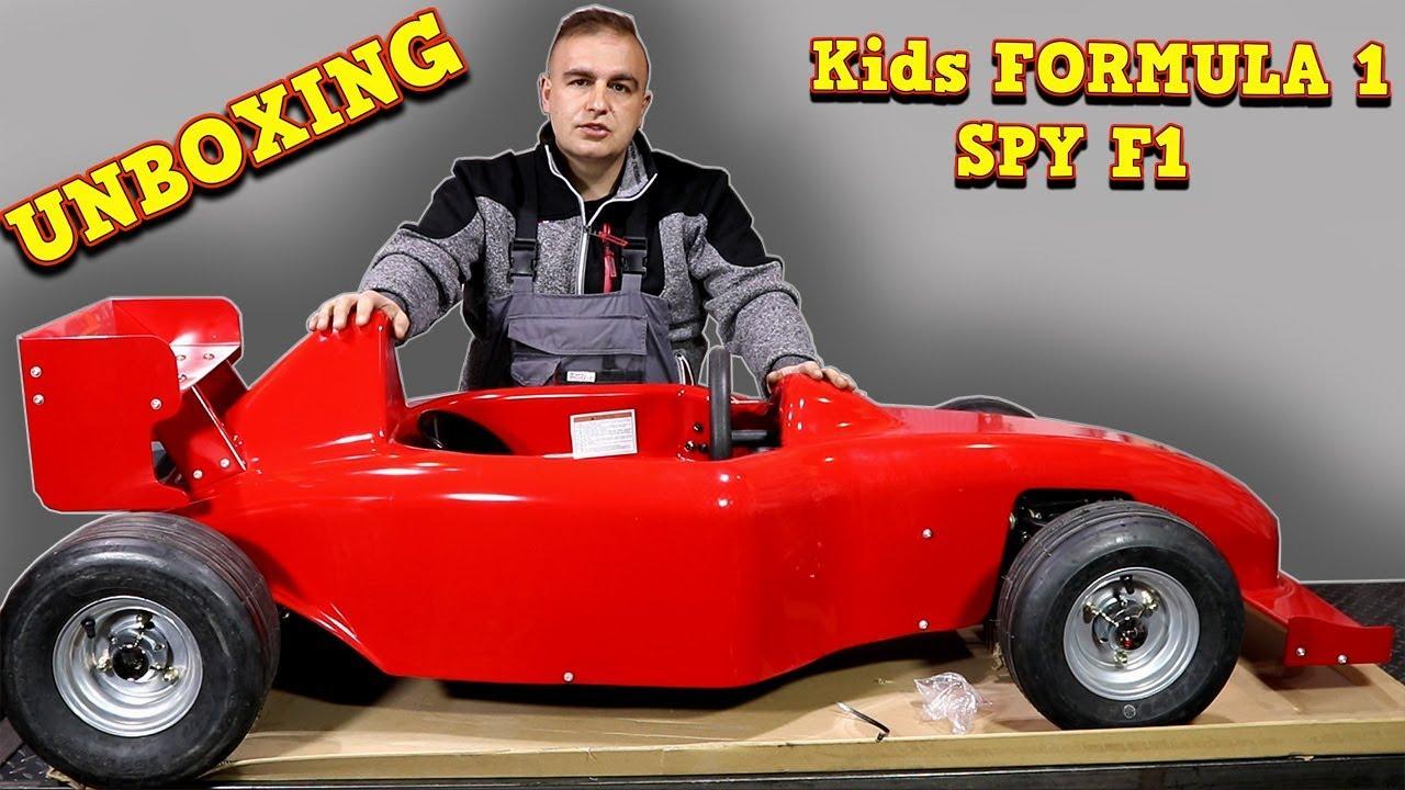 Unboxing 1000w 48v Spy F1 Electric Mini Formula 1 Car Assembly Instructions Youtube
