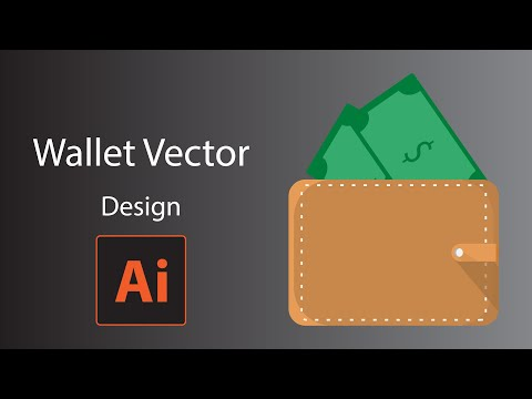 Illustrator Tutorial Simple wallet with money vector design thumbnail