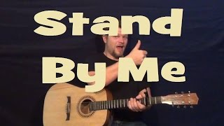Stand By Me (Ben E King) Easy Guitar Lesson Strum Chords How to Play Tutorial