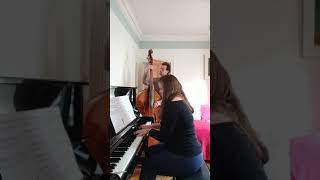 Just the Two of Us - Bill Withers (piano & double bass cover) YouTube Thumbnail