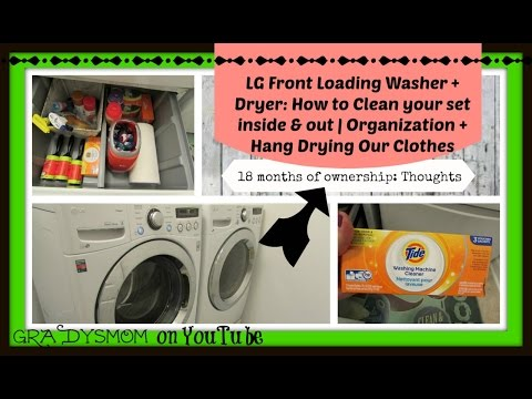 Cleaning your LG Front Load Washer & Dryer inside + out   Laundry Routine + Tips