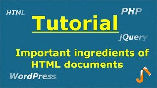 HTML Tutorials : Important ingredients of HTML documents