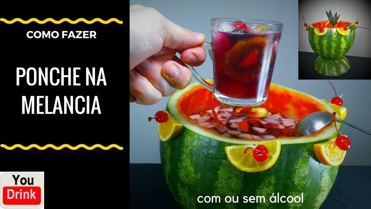 Preferência PONCHE NA MELANCIA c/ou sem álcool - PONCHE NA MELANCIA - - YouTube GI51