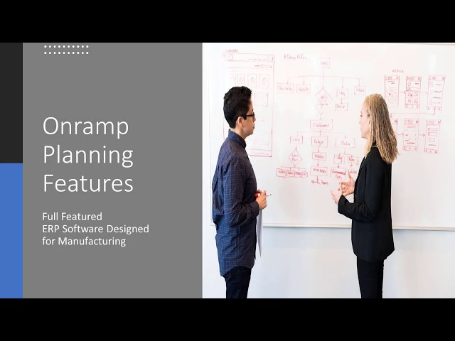 Onramp Solutions - Production Planning Features
