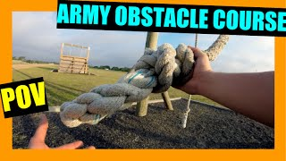 ARMY OBSTACLE COURSE!