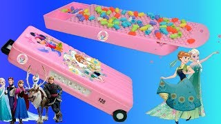 Disney Princess Pencil Box with Puzzles Game,  Password Lock Geometry Pencil Box for Girls