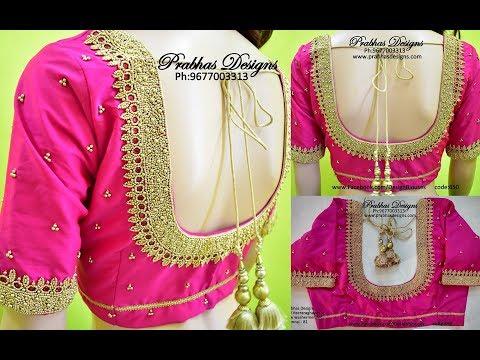 Simple Beadwork aari embroidery blouse designs || Prabhas Designs || 650