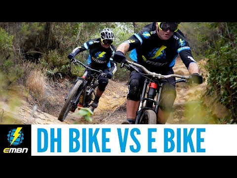 Downhill Bike Vs E Bike Race | Which Is Faster?