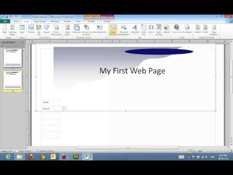 Creating A Web Site In Publisher