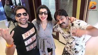 Pawan Singh Dinesh Lal Yadav & Sambhavna Seth का मस्ती भरा LIVE VIDEO