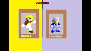 SM64 Bloopers The Mystery of the missing yellow cap man and grey hair guy