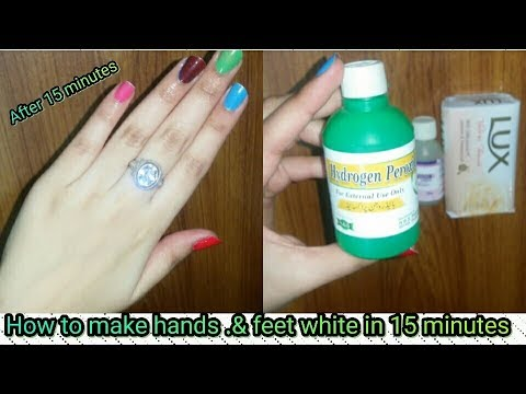 Hands and Feet  white At Home in 15 Minutes [Instant hands& Feet Whitening]