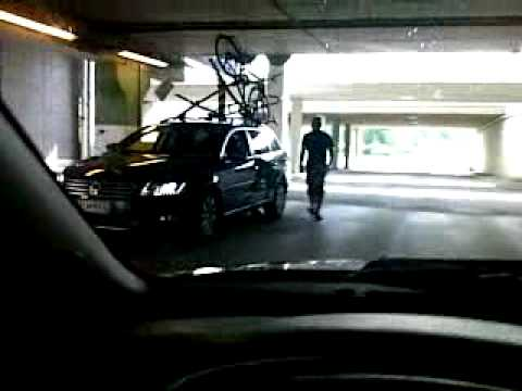 Car With Bikes On Roof Rack Stuck In Garage Youtube