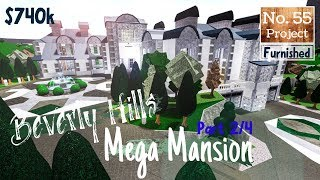 Roblox | BLOXBURG: Beverly Hills Mega Mansion (Speedbuild) [Part 2/4]