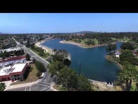 DJI Phantom 3 Professional - Marina Vista Park and Colorado Lagoon, Long Beach, CA