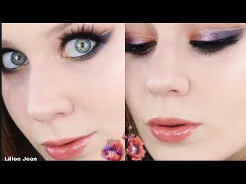 Shimmery Purple & Bronze Soft Cut Crease Makeup Tutorial | Lillee Jean