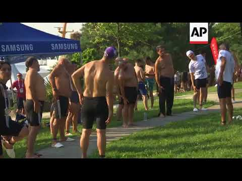 Swimmers cross from Asia to Europe in annual Bosphorous race