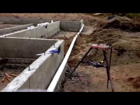 Building a new house, drain piping installation around foundation