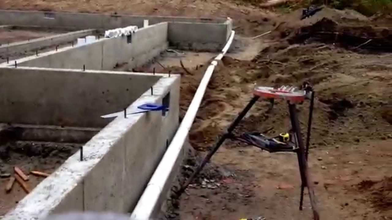 Building A New House Drain Piping Installation Around Foundation You