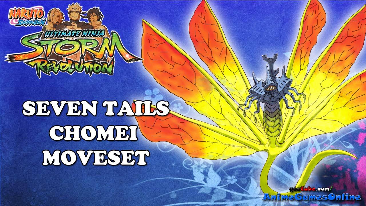 Seven Tails Chomei Complete Moveset Naruto Shippuden Ultimate