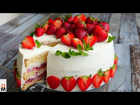 Торт «КЛУБНИЧНЫЙ РАЙ» Приготовьте обязательно!!! | Strawberry Cake