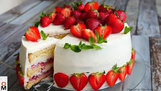 Торт КЛУБНИЧНЫЙ РАЙ Приготовьте обязательно Strawberry Cake