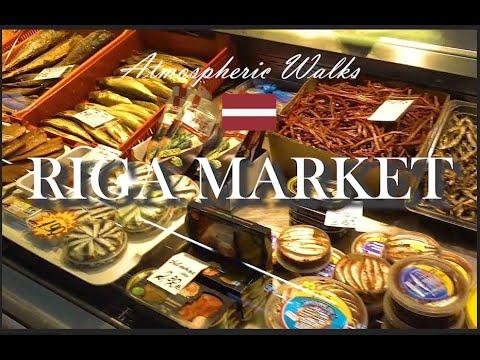CITY WALKS: Riga Central Market - Рижский рынок Латвия