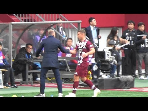 2019J1リーグ第34節 ヴィッセル神戸vsジュビロ磐田 ポドルスキ交代