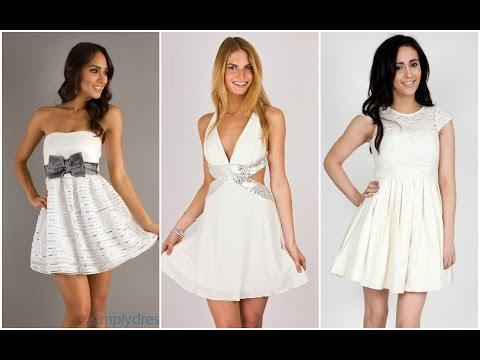 Exclusivos Vestidos Blancos De Fiesta Youtube