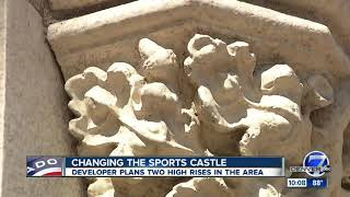 Developer submits proposal for site surrounding Sports Castle, plans calls for 13-story buildings