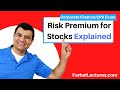 Risk Premium for Stocks | Corporate Finance | CPA Exam BEC | CMA Exam | Chp 12 p 2