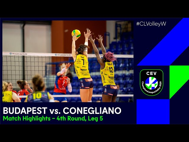 #CLVolleyW | Vasa Óbuda BUDAPEST vs. A Carraro Imoco CONEGLIANO - Match Highlights