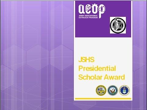 JSHS Presidential Scholar Award Guidelines January 2017