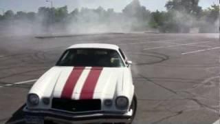 74 Chevy Z28 Camaro Spinning donuts!