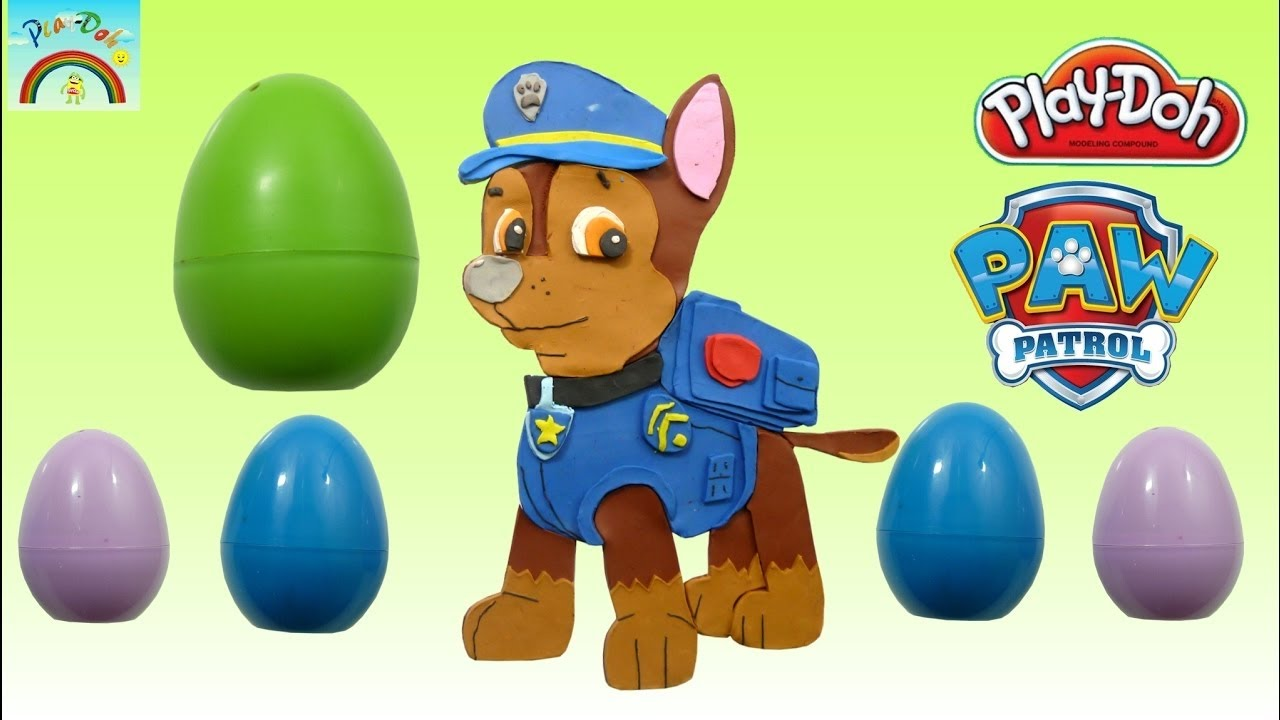 la pat patrouille paw patrol oeufs surprise pate modeler play doh clay en fran ais fr. Black Bedroom Furniture Sets. Home Design Ideas