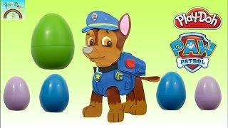 La Pat' Patrouille Paw Patrol Oeufs SURPRISE Pate à Modeler Play Doh Clay en Français (FR) !