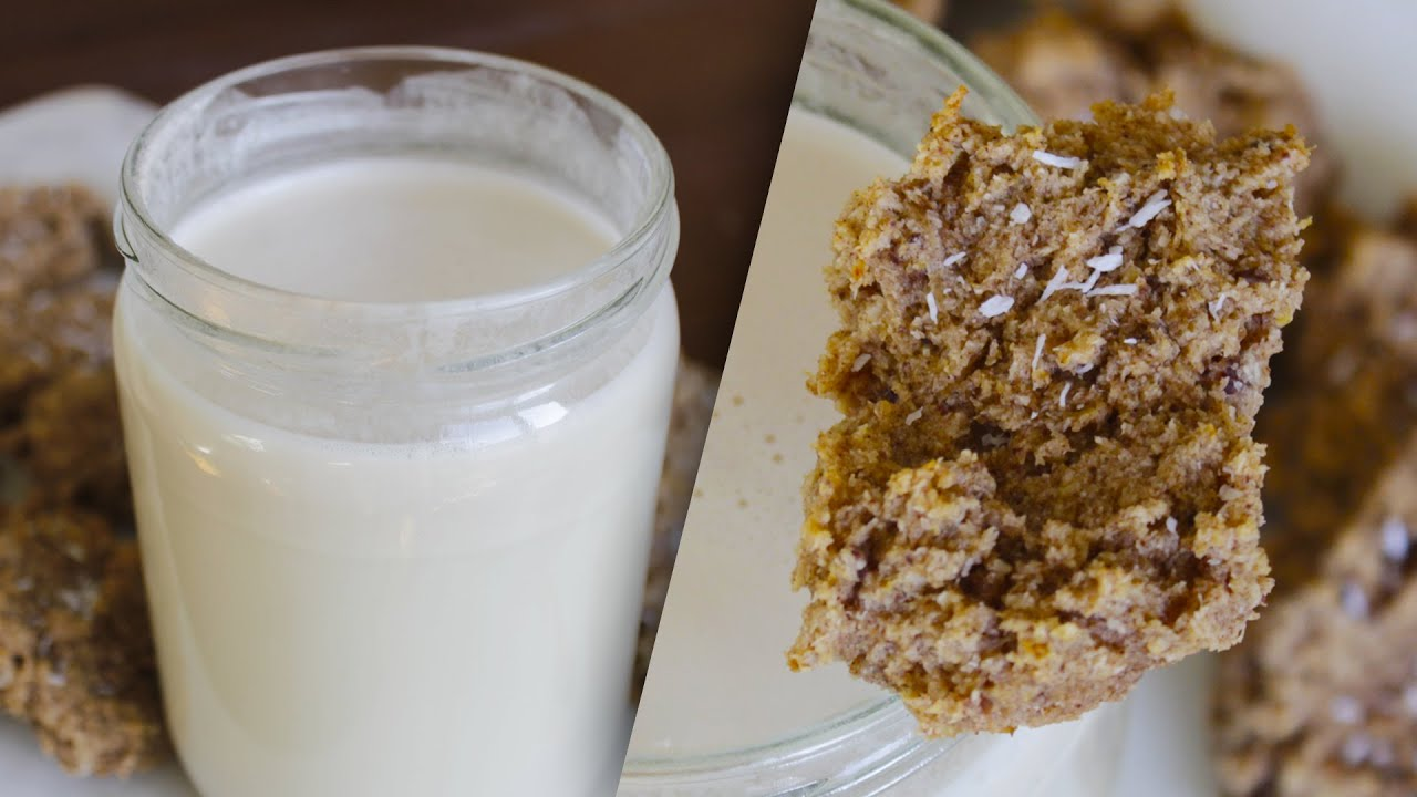 Kokosmilch selbst machen mit Trester-Cookies – Zero-Waste, Glutenfrei, Vegan