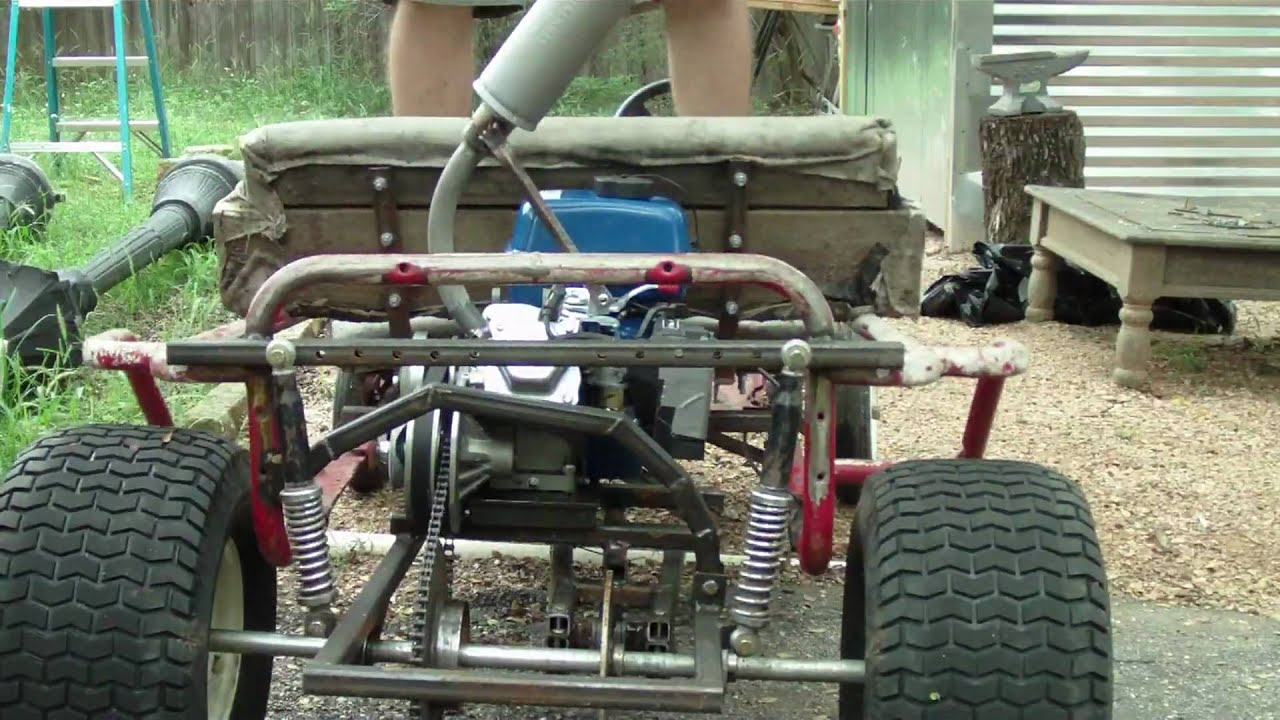 Home Made Suspension On My Go Kart YouTube