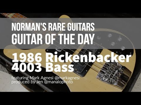 Norman's Rare Guitars - Guitar of the Day: 1986 Rickenbacker 4003 Bass