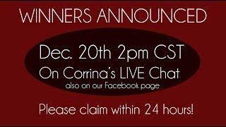 Giveaway WINNERS Announced! Corrina