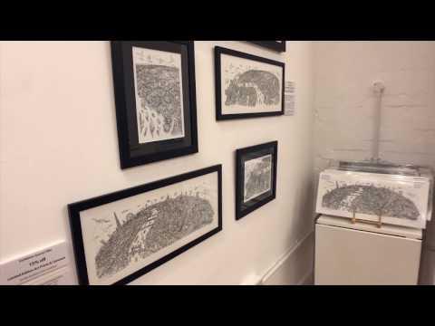 Hartwig Braun's Line Drawing Exhibition & Popup Shop (short clip)