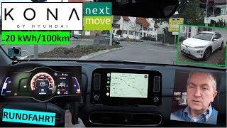 Hyundai KONA: Rundfahrt, Praxistest, Vollstrom 180 km/h | nextmove