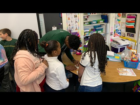 W&M's Nathan Knight on the Tribe's Visit to Matthew Whaley Elementary School
