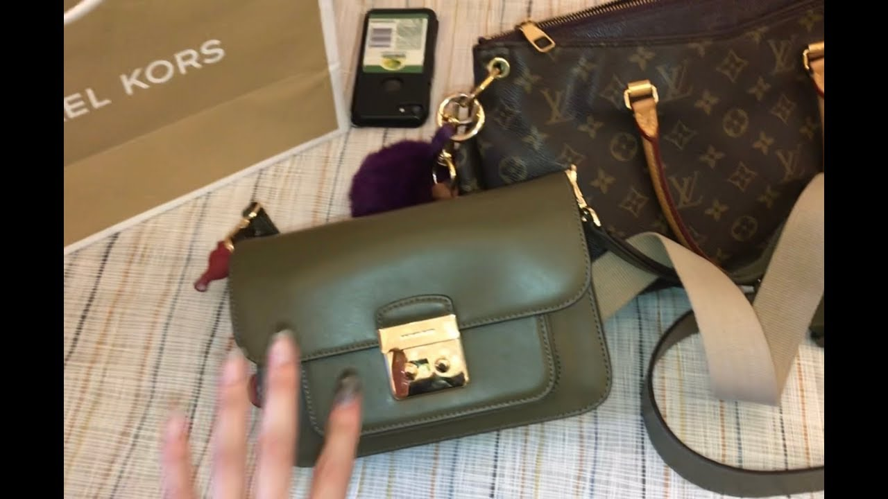 Unboxing Michael Kors Mk Sloan Editor Large Olive Green Mr Birkin