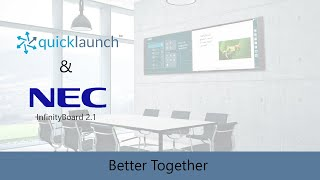 NEC InfinityBoard 2.1 and Quicklaunch in Action