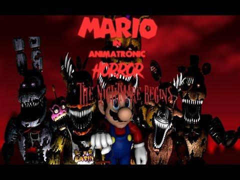 Mario in animatronic Horror the nightmare begins (CH 1)