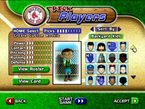 Backyard Baseball 2005 Let's Play Part 1 w/ Team Picking ...