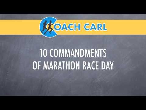 10 Commandments of Marathon Race Day