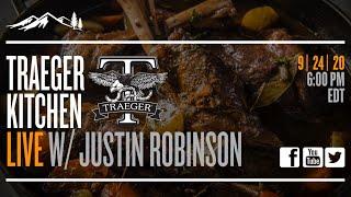Traeger Kitchen Live #25- Lamb Shank &amp Homemade Pretzel Bites with Justin Robinson