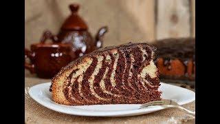 Пирог «Зебра» пошаговый рецепт